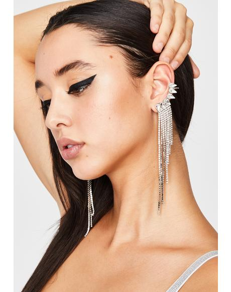 Dripping With Disdain Rhinestone Ear Cuffs