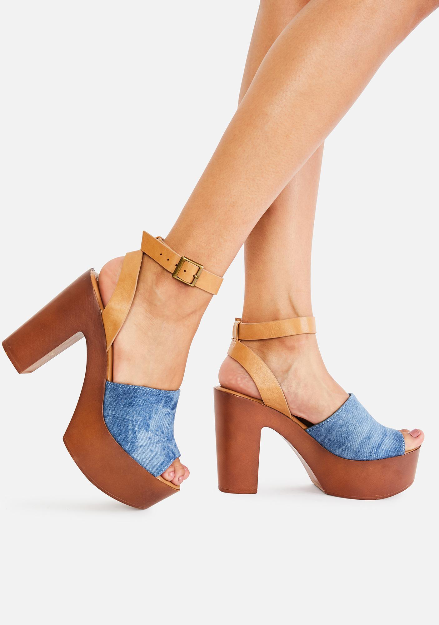 Boho Babe Platform Heels