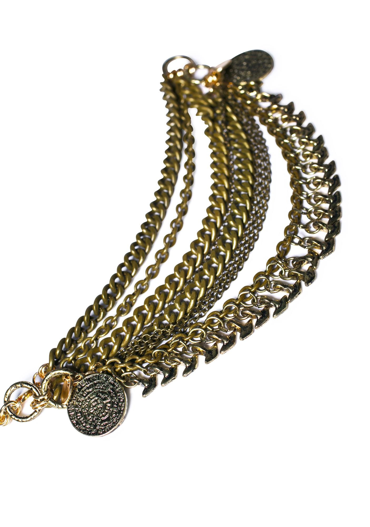 Ettika Boho Penny Mixed Metal Necklace