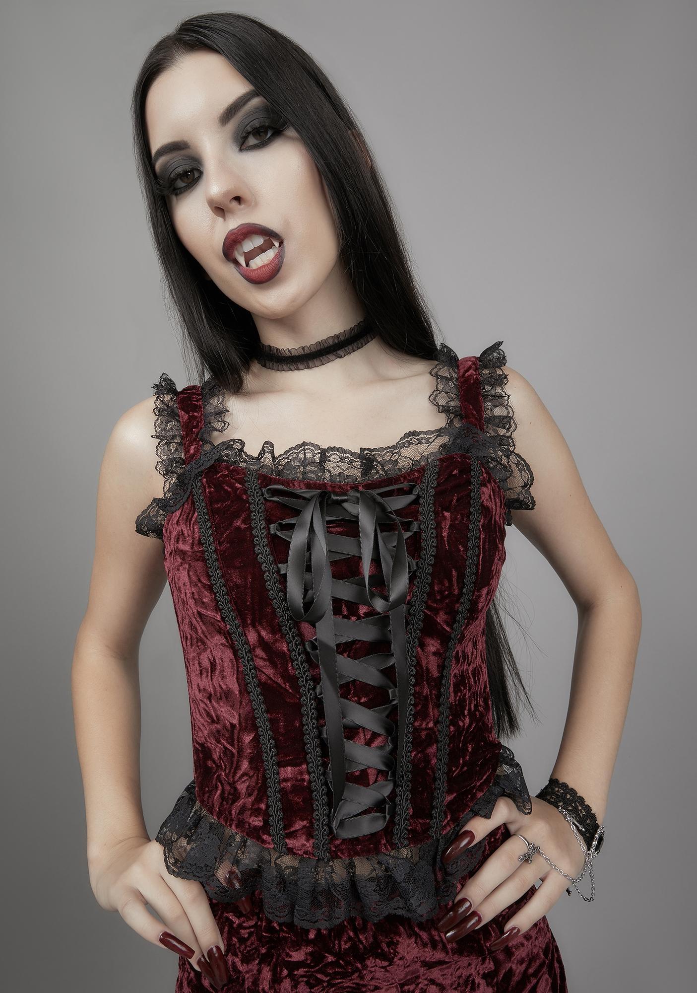 Widow Killer In Me Velvet Bustier
