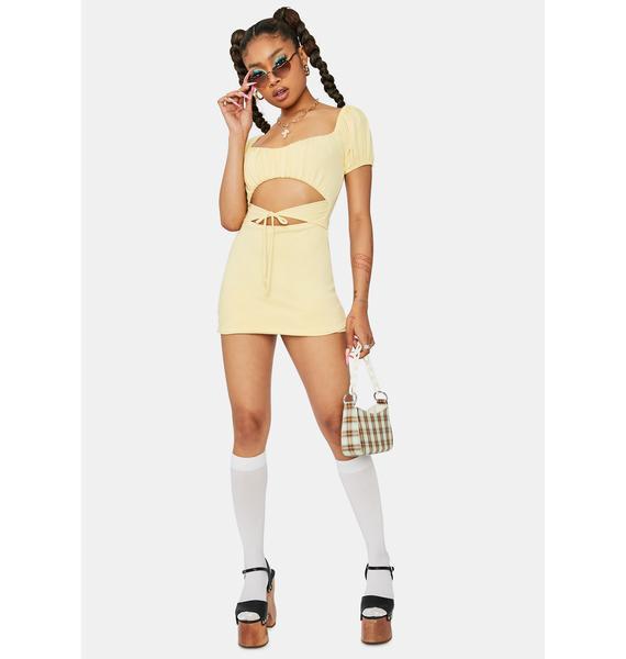 Hometown Honey Cutout Mini Dress