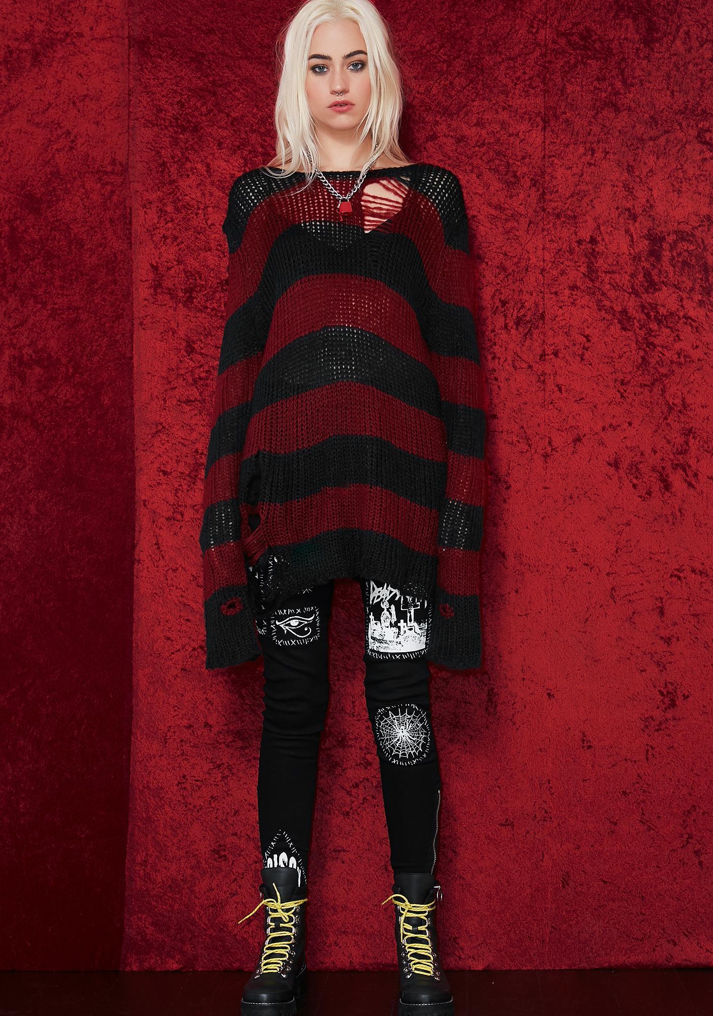 de12ac41273e Current Mood Striped Distressed Sweater