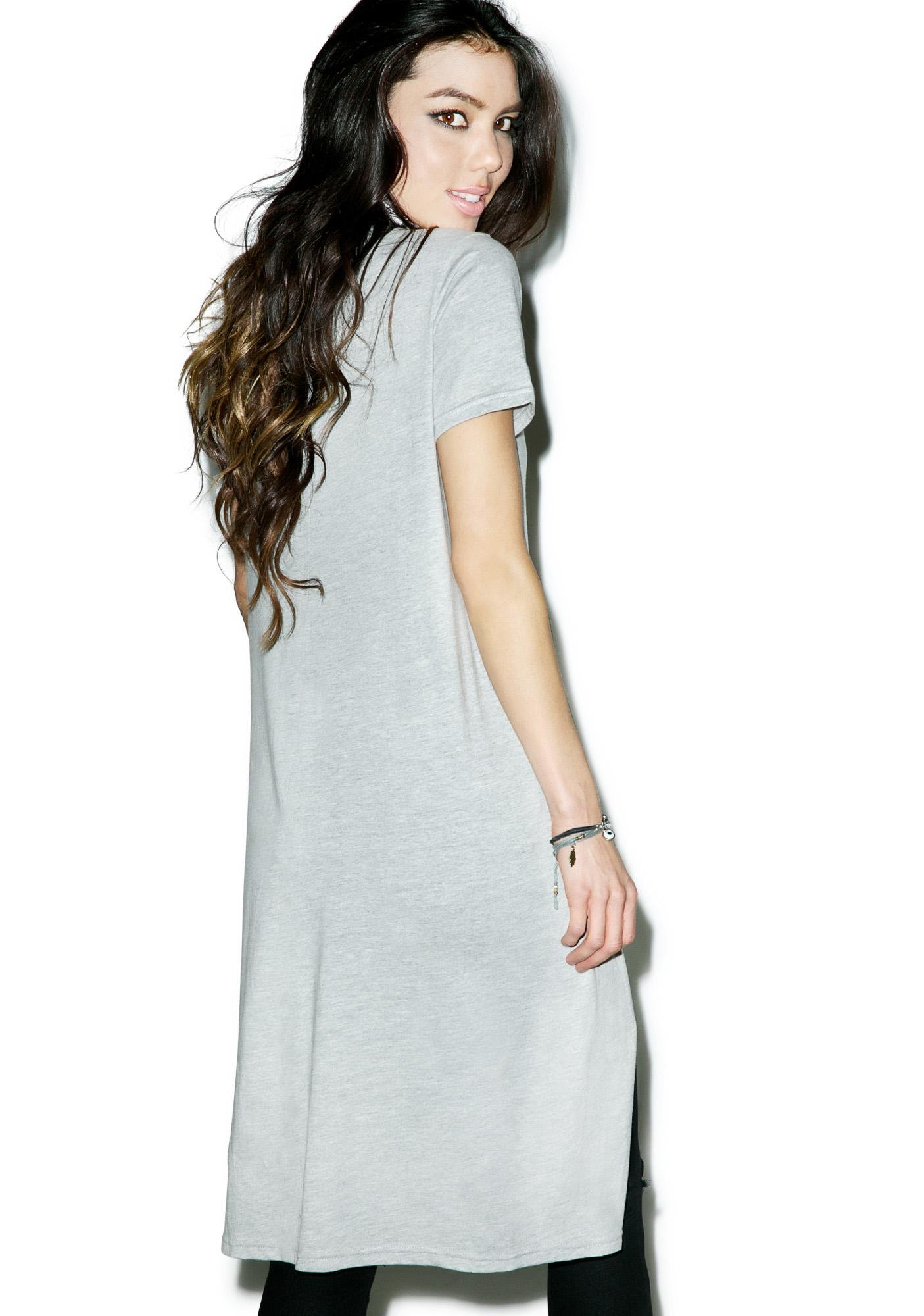 Glamorous Split Second Tee Dress