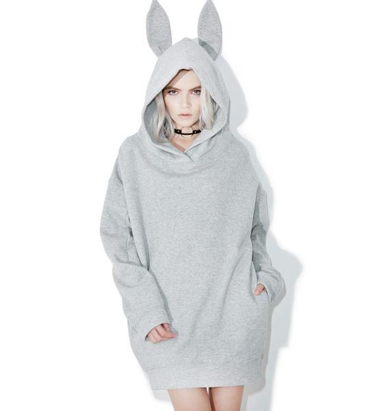 one spo Rabbit Hoodie Dress