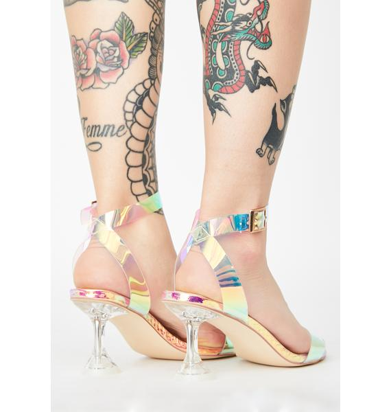 Luminous Smooth As Glass Clear Heels