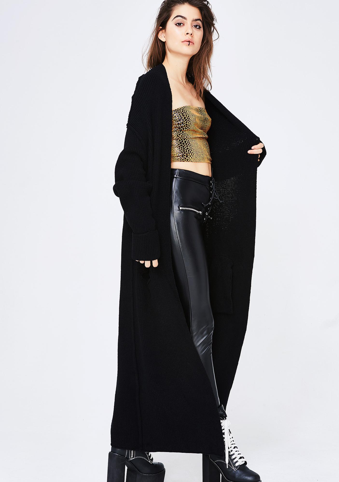 Not Worried Longline Cardigan