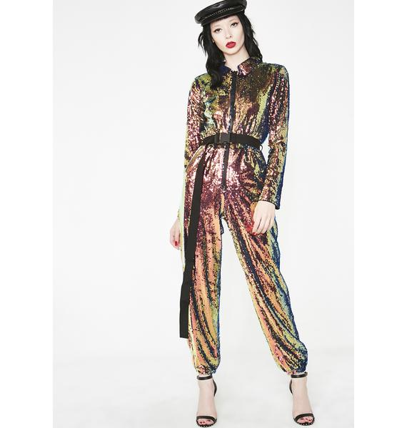 Cosmic Deviant Sequin Jumpsuit
