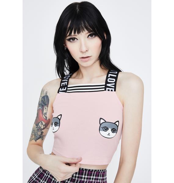 Jawbreaker Cutey Kitty Crop Tank