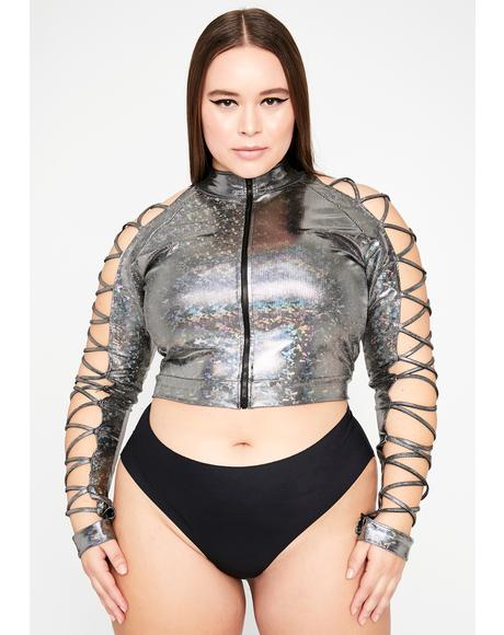 Chrome My Electric Lust Crop Jacket