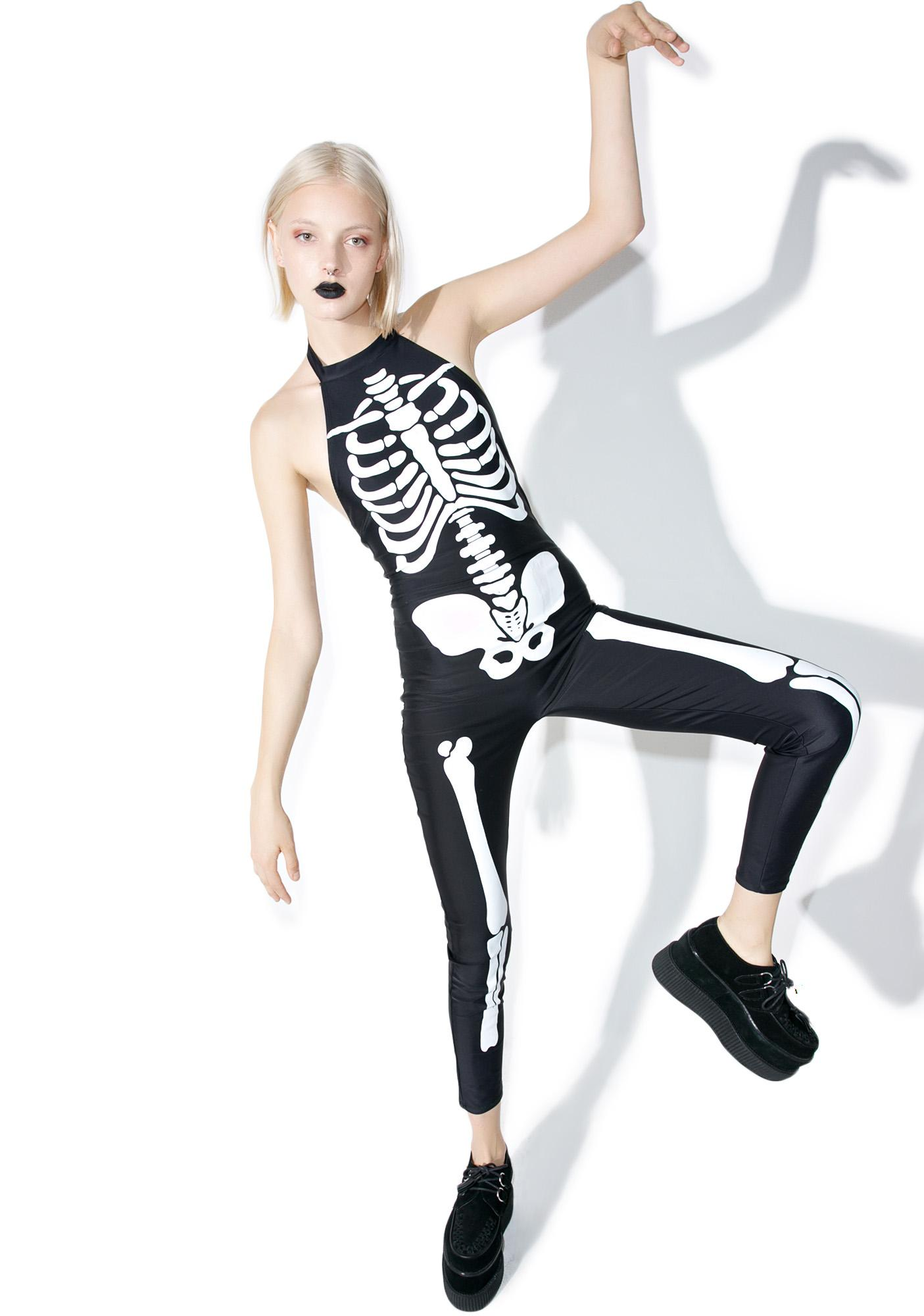 Dolls Kill Midnight Bonita Bones Costume