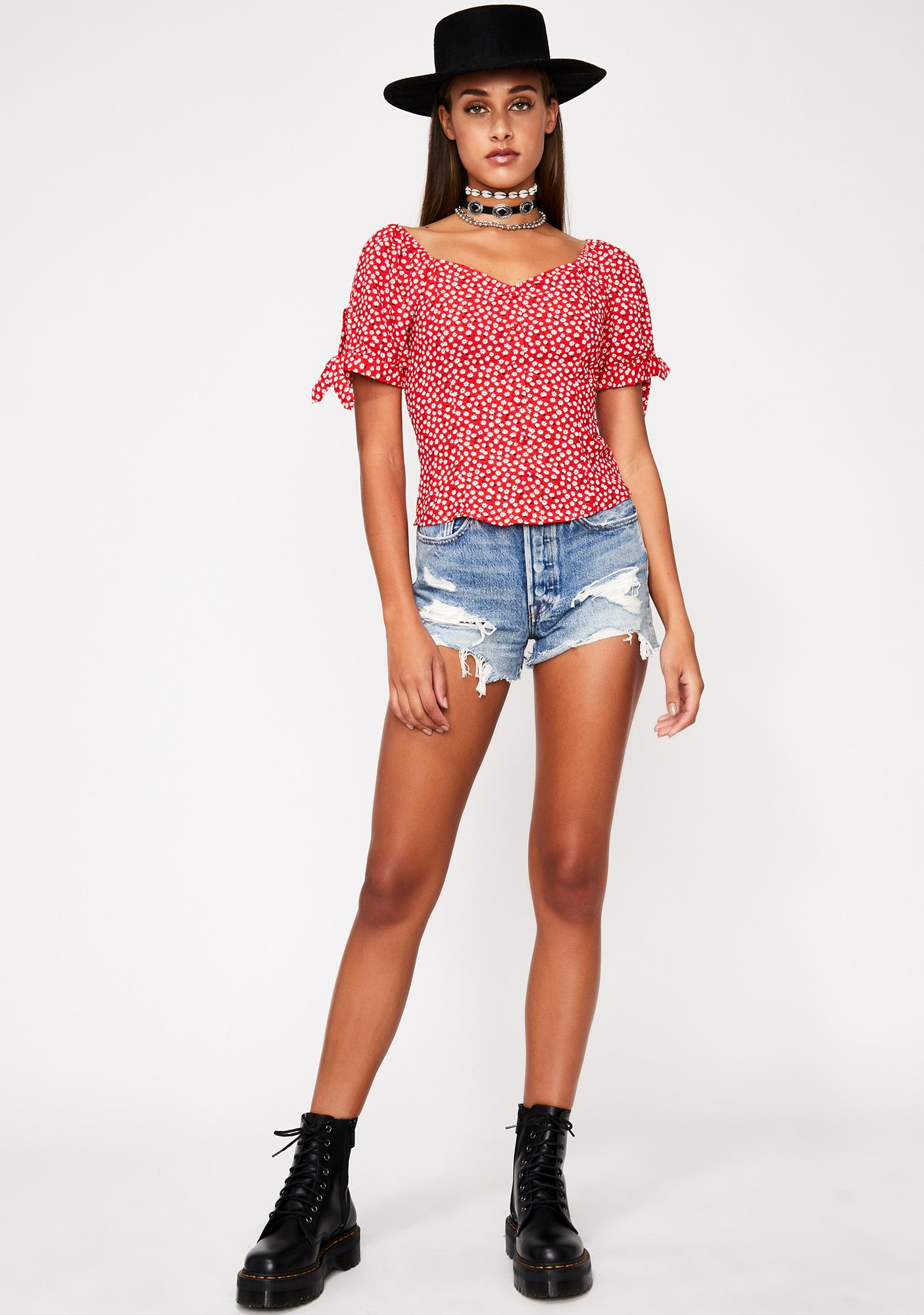 Love Bliss Reality Floral Blouse