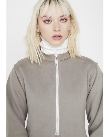 Sweater Zipper Bodysuit