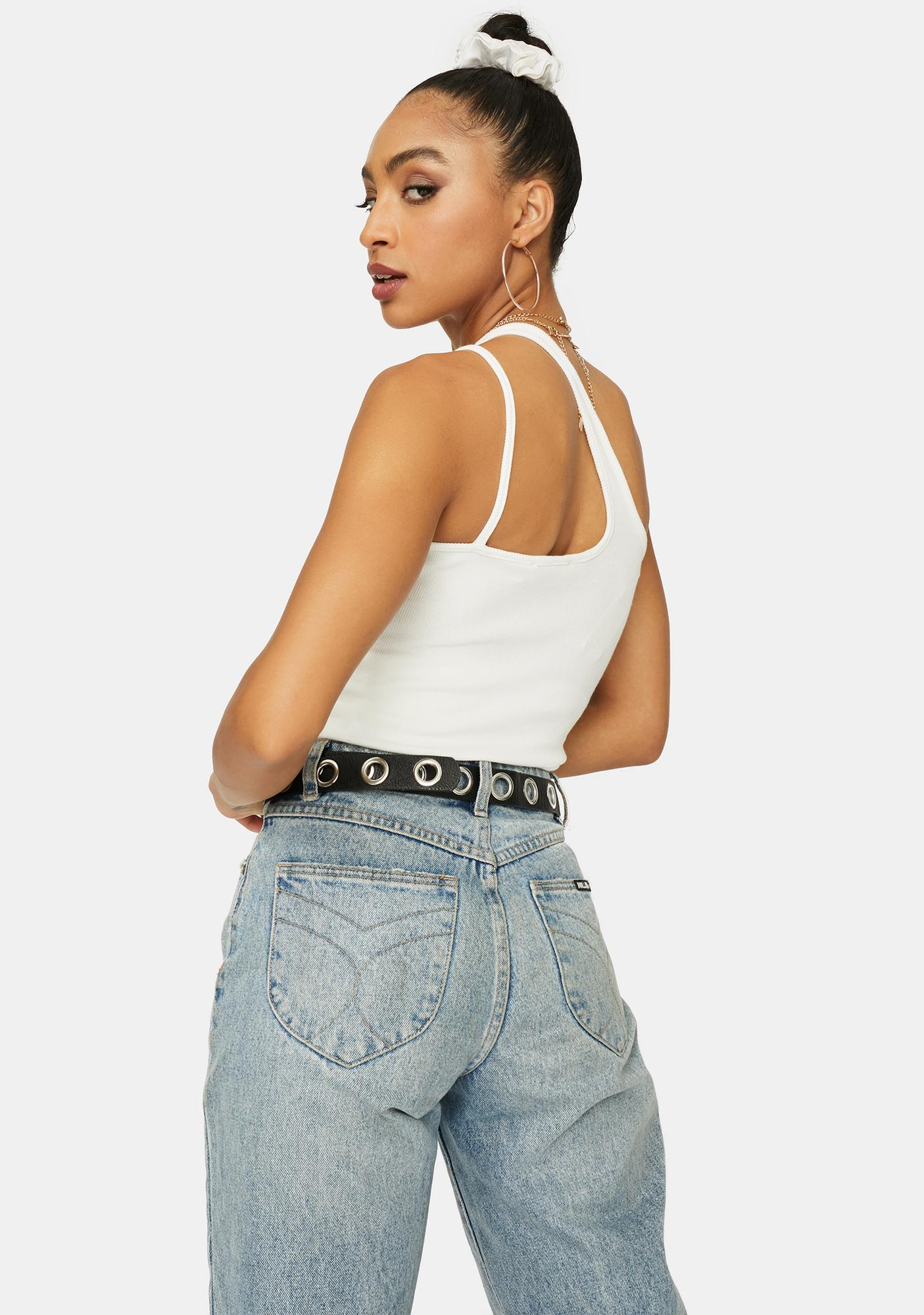 Chill Location Sent Asymmetrical Crop Top
