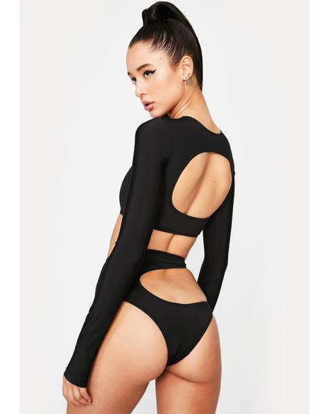 Black Oshun Bikini Top