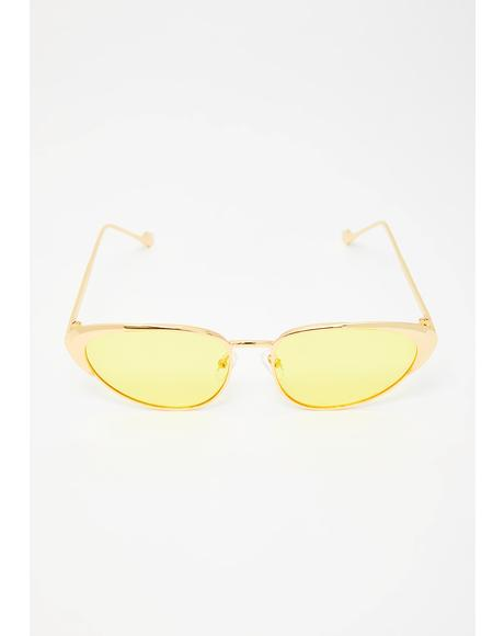 Caution Total Wannabe Cat Eye Sunglasses