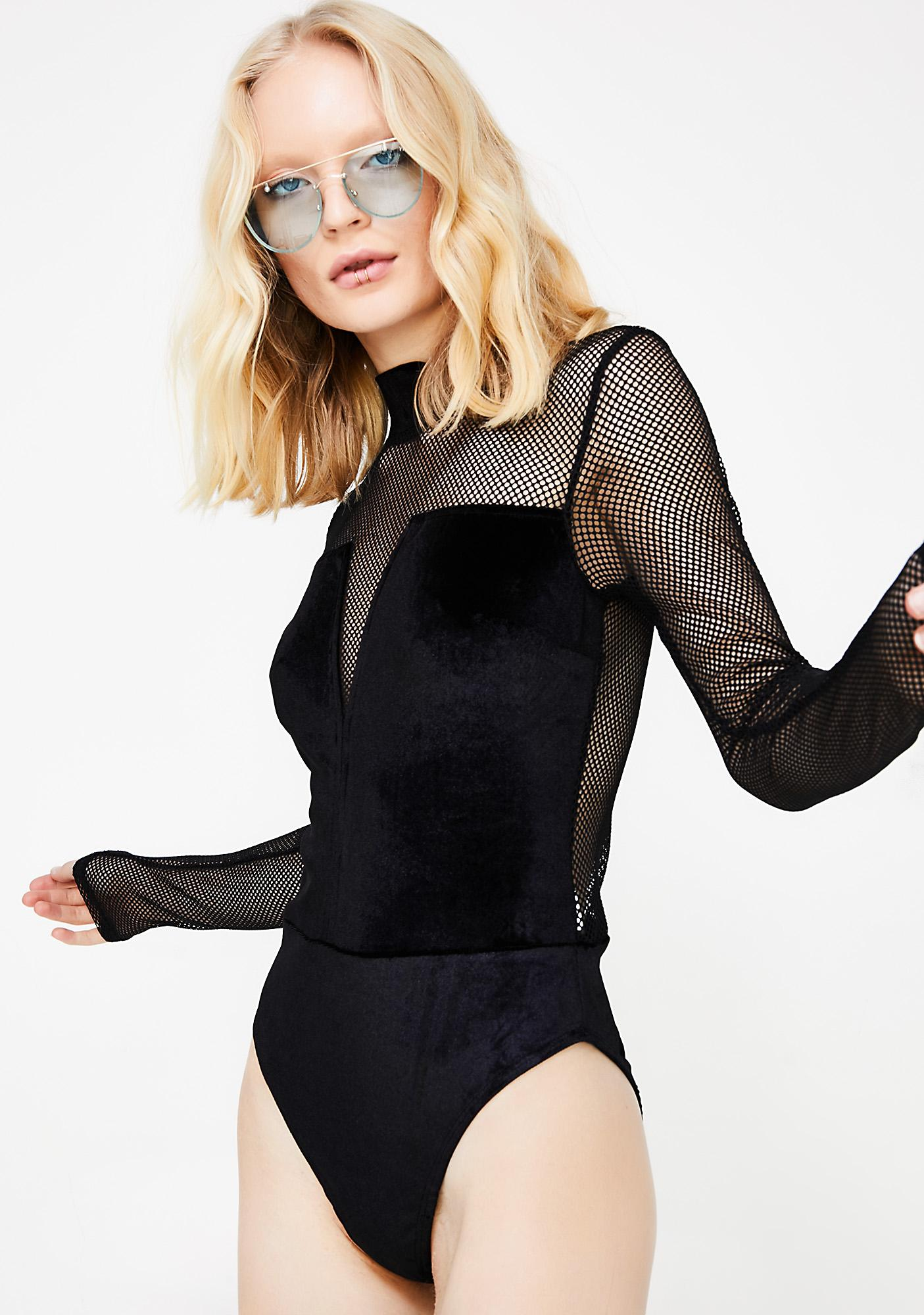 High Standards Sheer Bodysuit