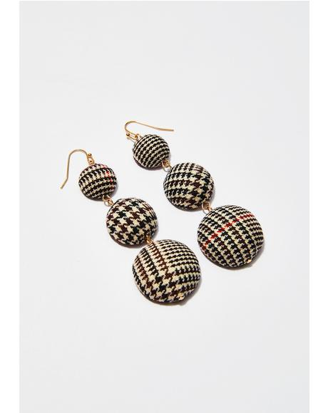 Very Proper Houndstooth Earrings