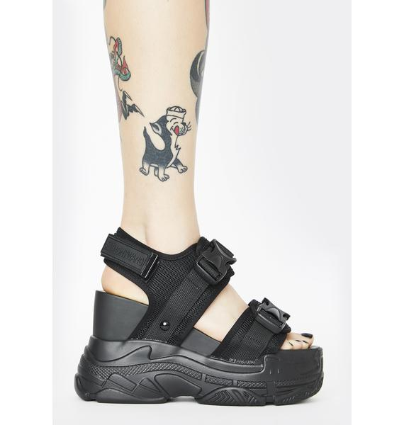 Anthony Wang Black Peach Platform Sandals