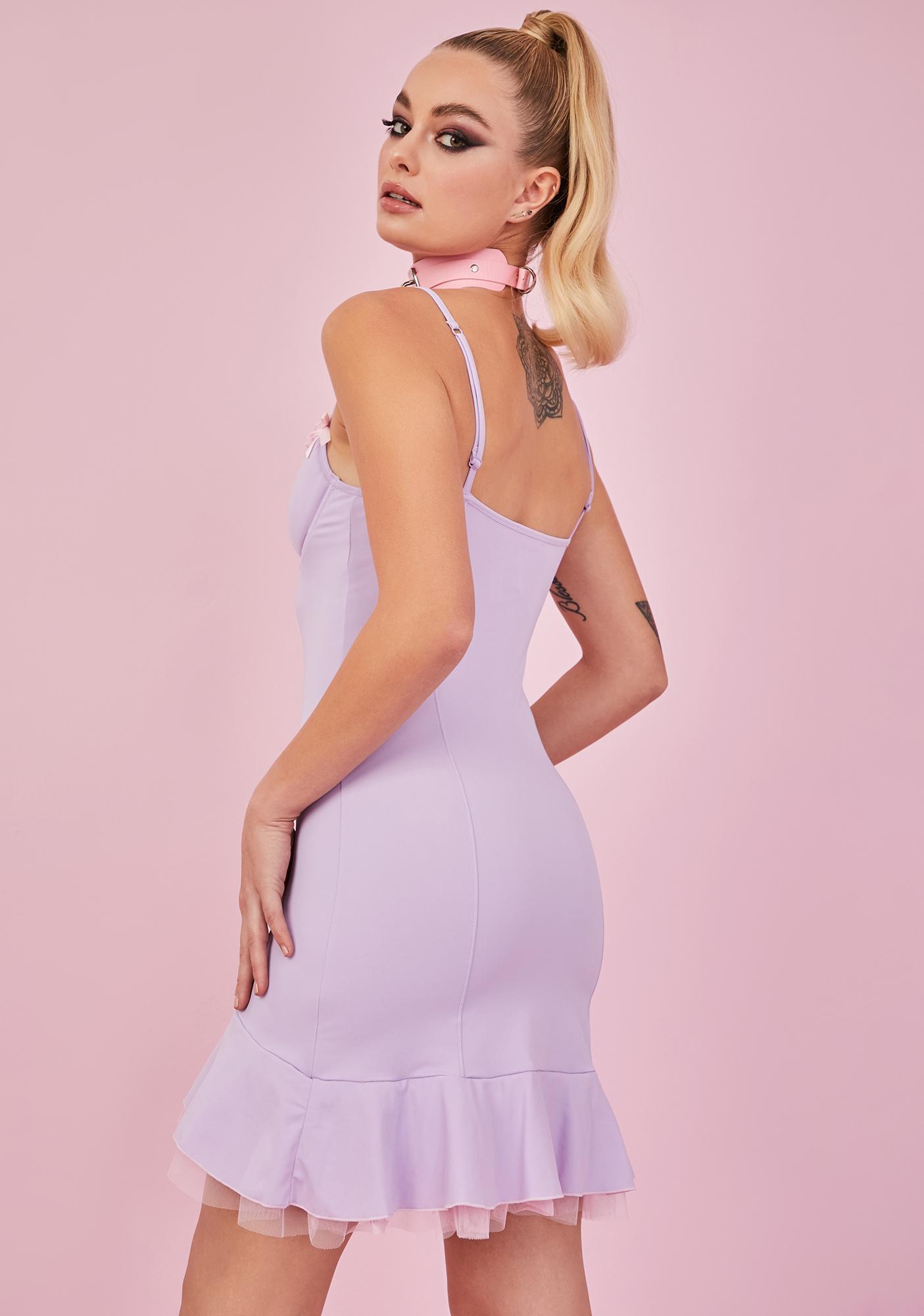 Sugar Thrillz Hold Me Closer Bustier Slip Dress