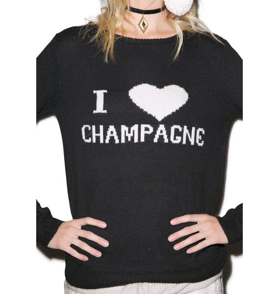 For Love & Lemons Champagne Sweater