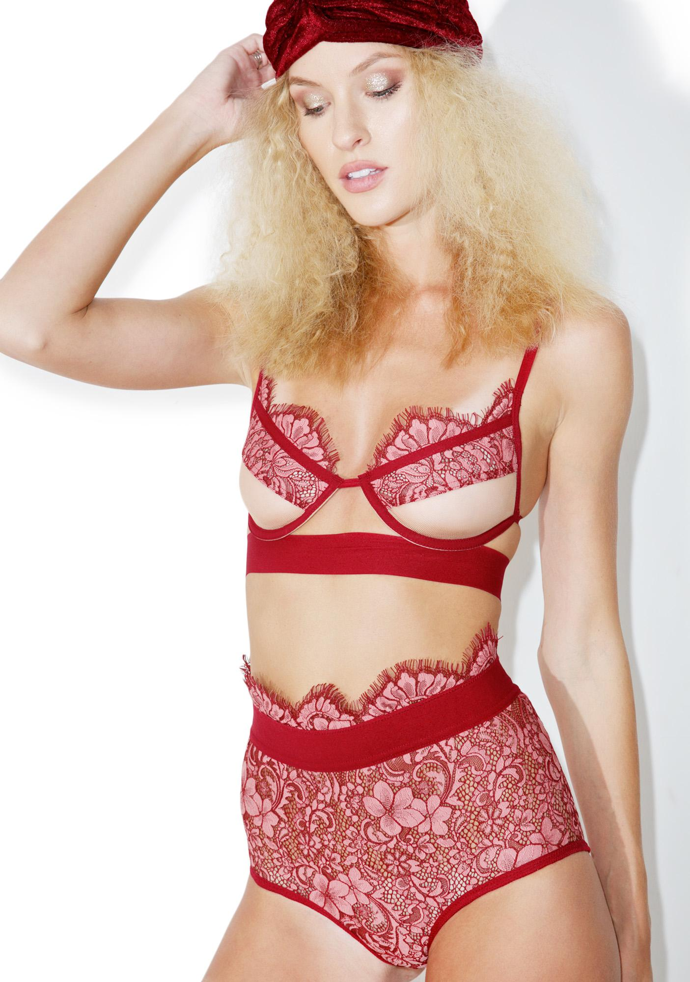 For Love & Lemons Rose Loucette Hi-Waist Panty