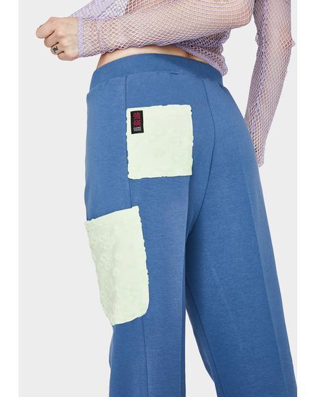 Navy Blue Daisy Pants