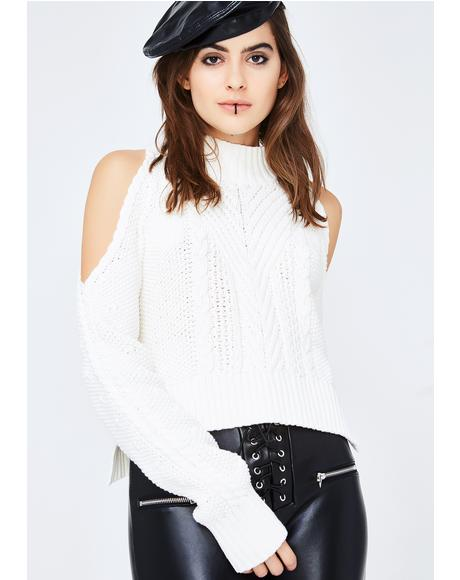 Icy Cold Blooded Knit Sweater