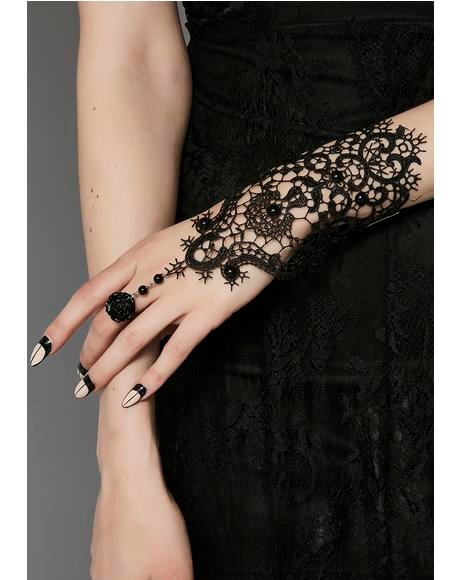 Wrapped In Lies Lace Gloves