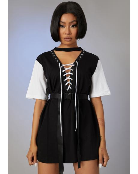 Stay Strapped In T-Shirt Dress