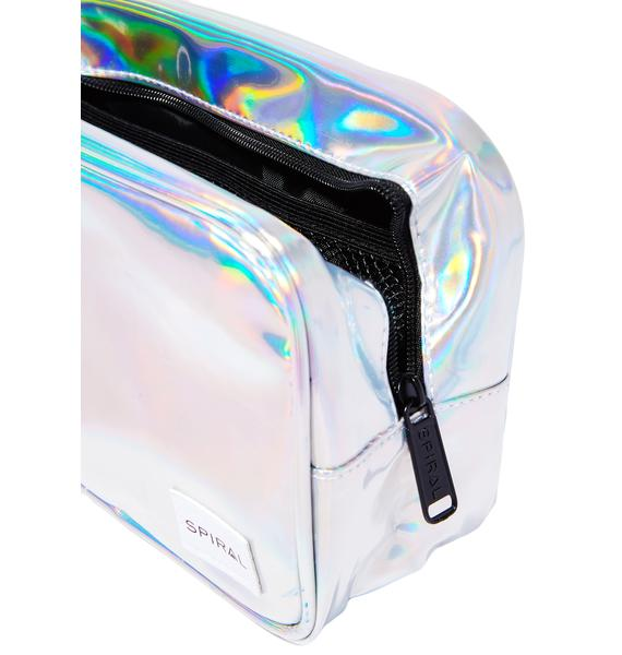 Spiral UK Silver Flare Portland Cosmetic Bag