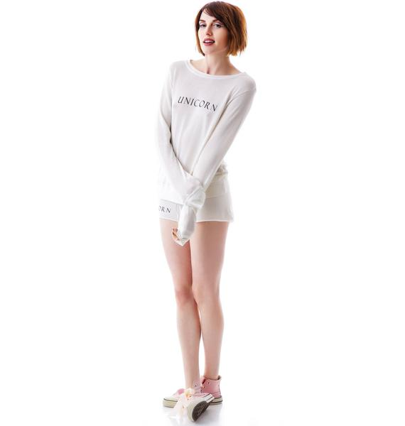 Wildfox Couture Unicorn Baggy Beach Jumper