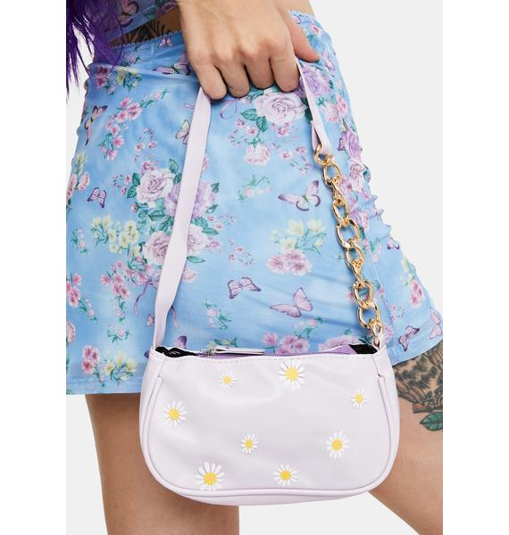 Lilac Cute N' Grunge Shoulder Bag