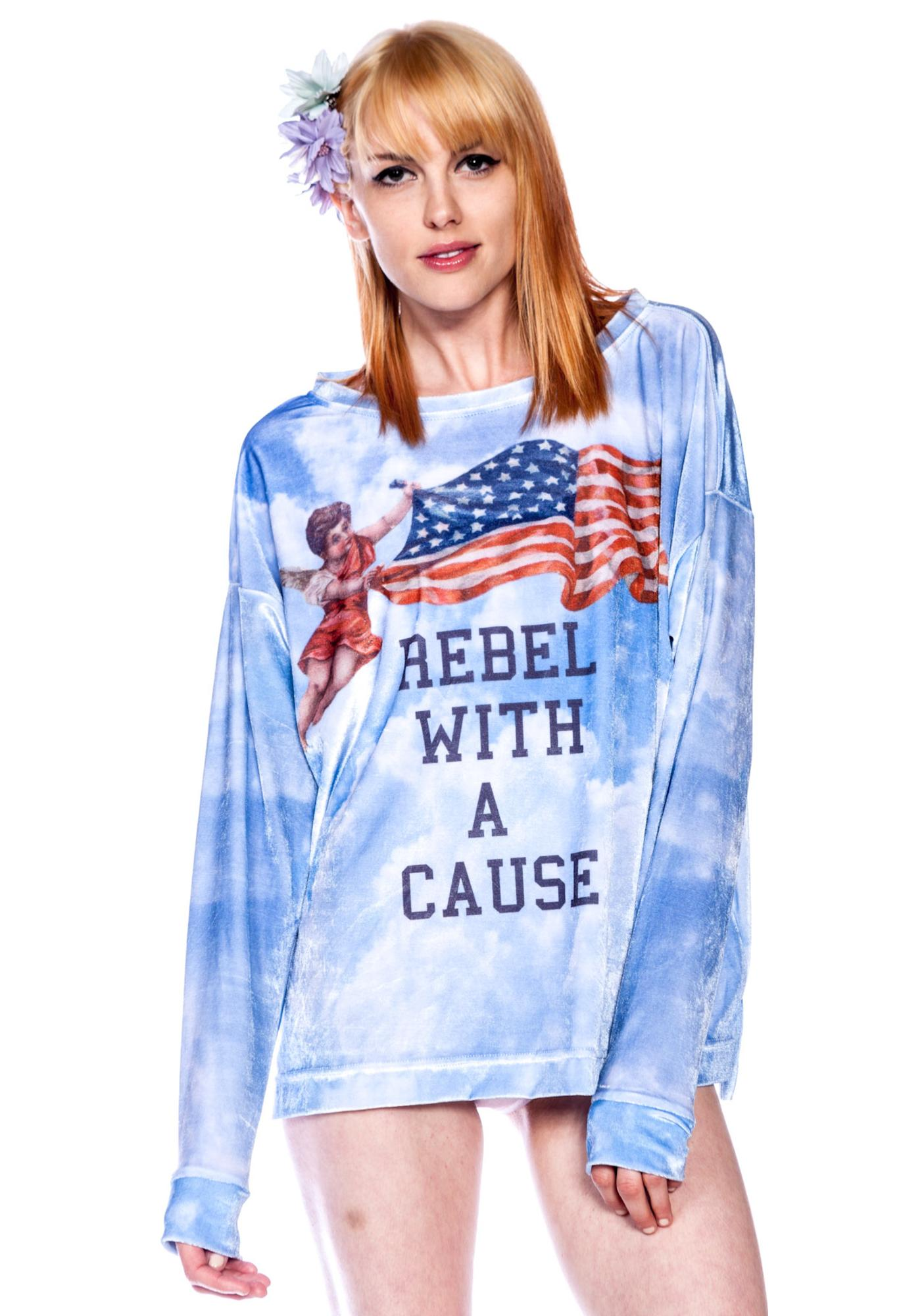 Wildfox Couture Rebel With a Cause Sweater