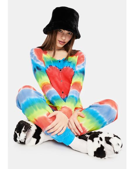 Chill In The Air Tie Dye Jumper