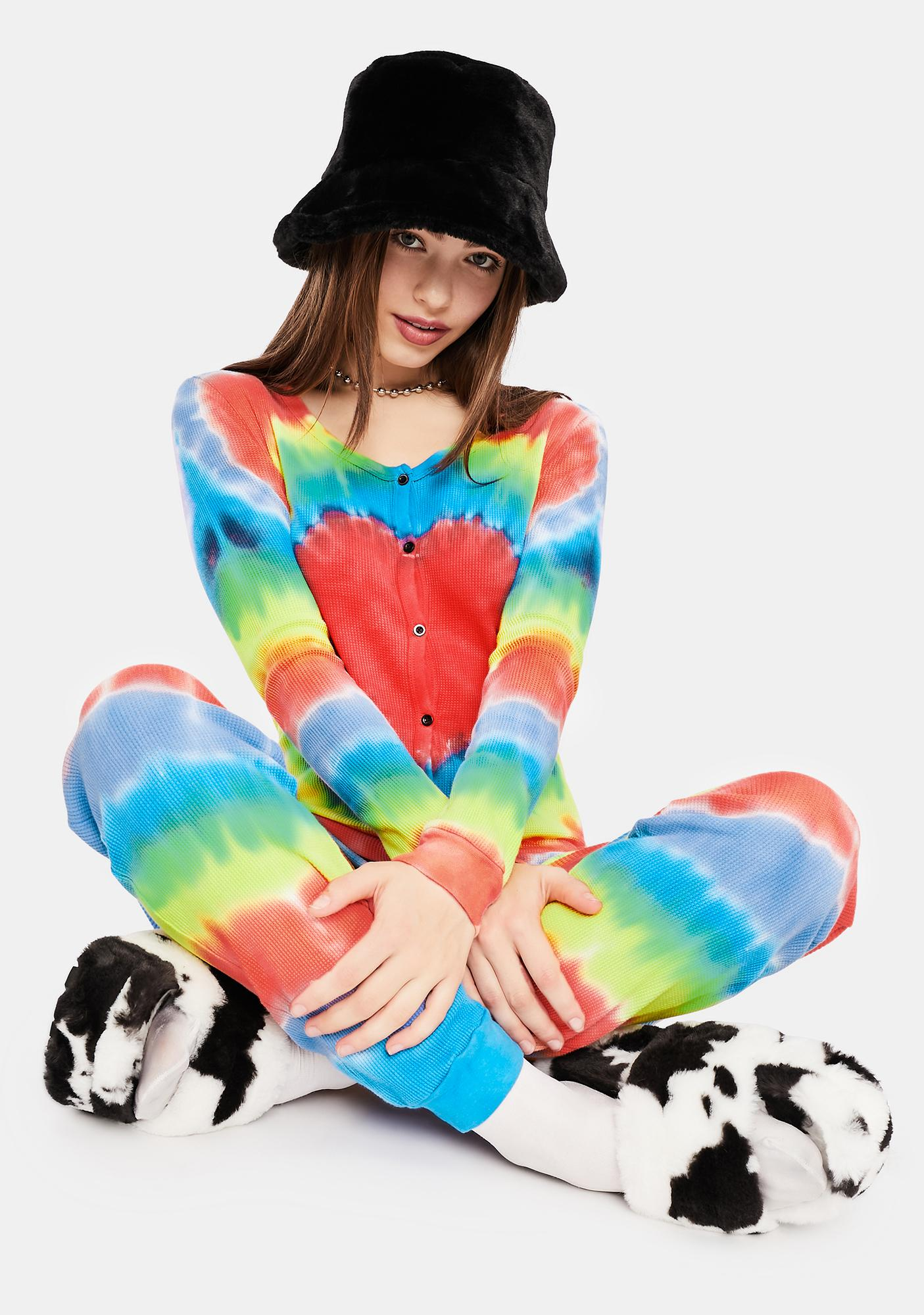 dELiA*s by Dolls Kill Chill In The Air Tie Dye Jumper