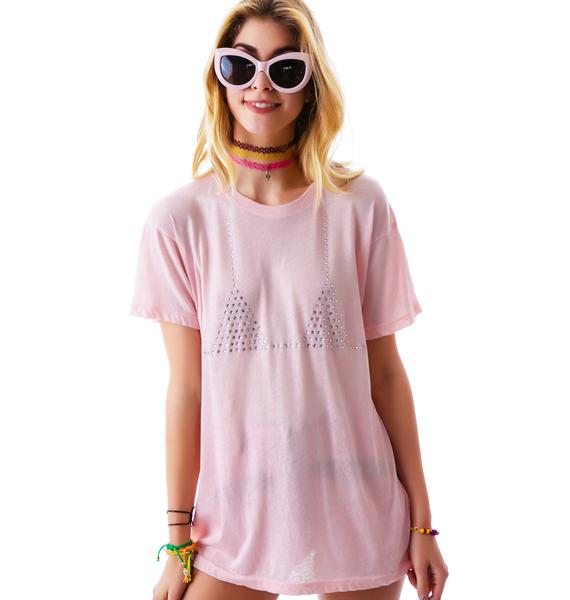Wildfox Couture Wet Bikini Oversized Tee