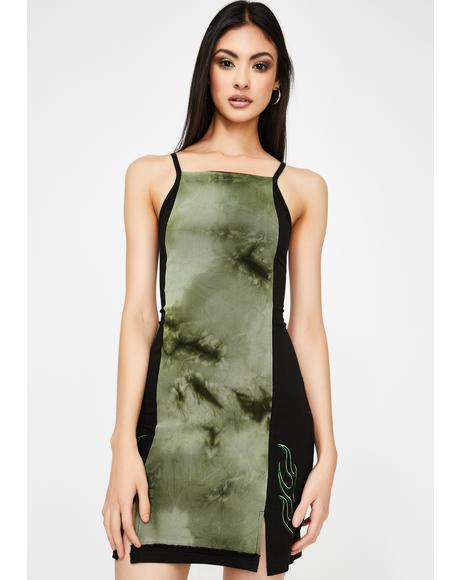 Dark Green Poison Bodycon Dress