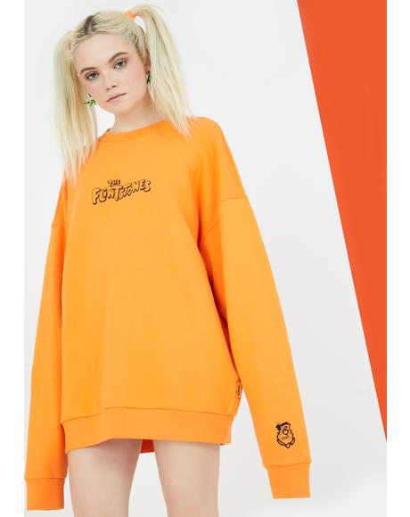 X Flintstones Orange Fred Sweatshirt