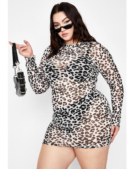 Mz Baddie Gone Wild Leopard Dress