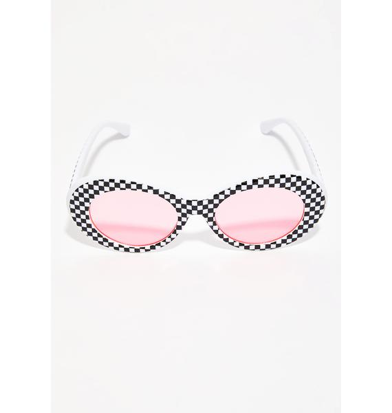The Cobra Snake Miss Checkered Layla Shades