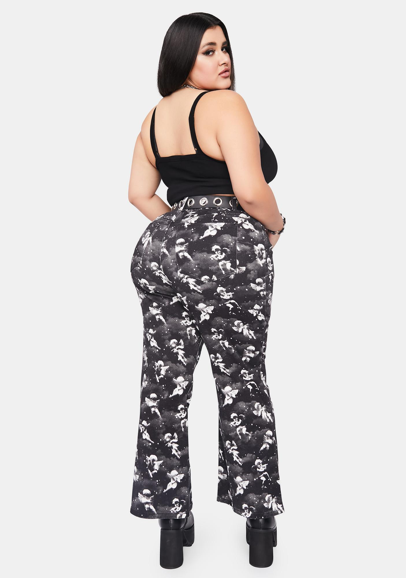 dELiA*s by Dolls Kill Her Unholy Spirit Printed Twill Jeans