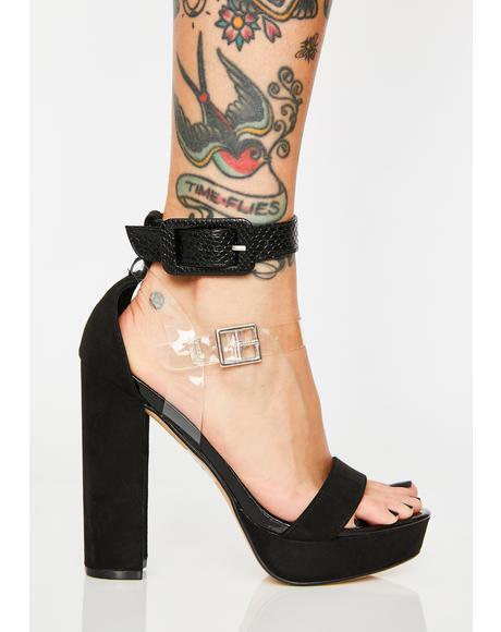 Try N' Stop Me Platform Heels