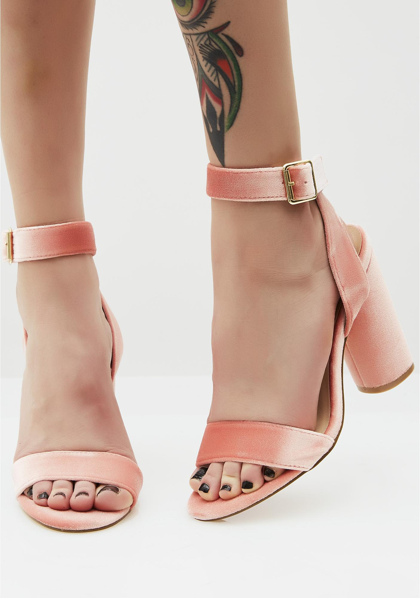Sweet Treat Velvet Heels