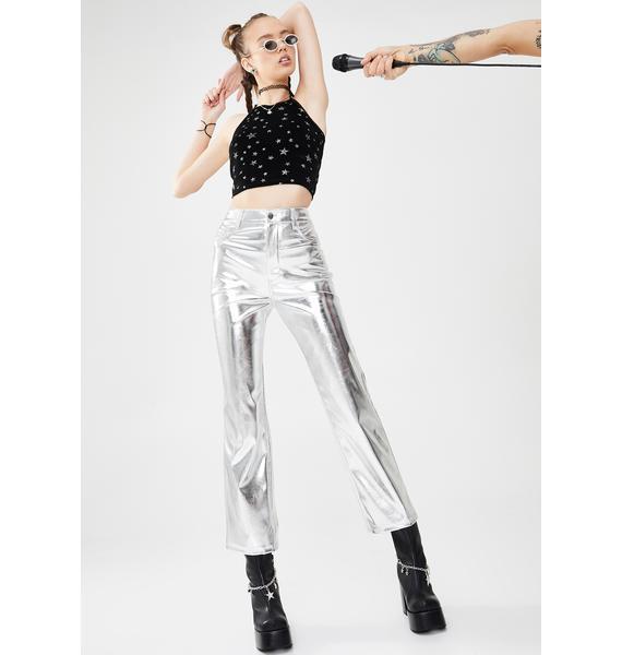dELiA*s by Dolls Kill Claim To Fame Metallic Pants
