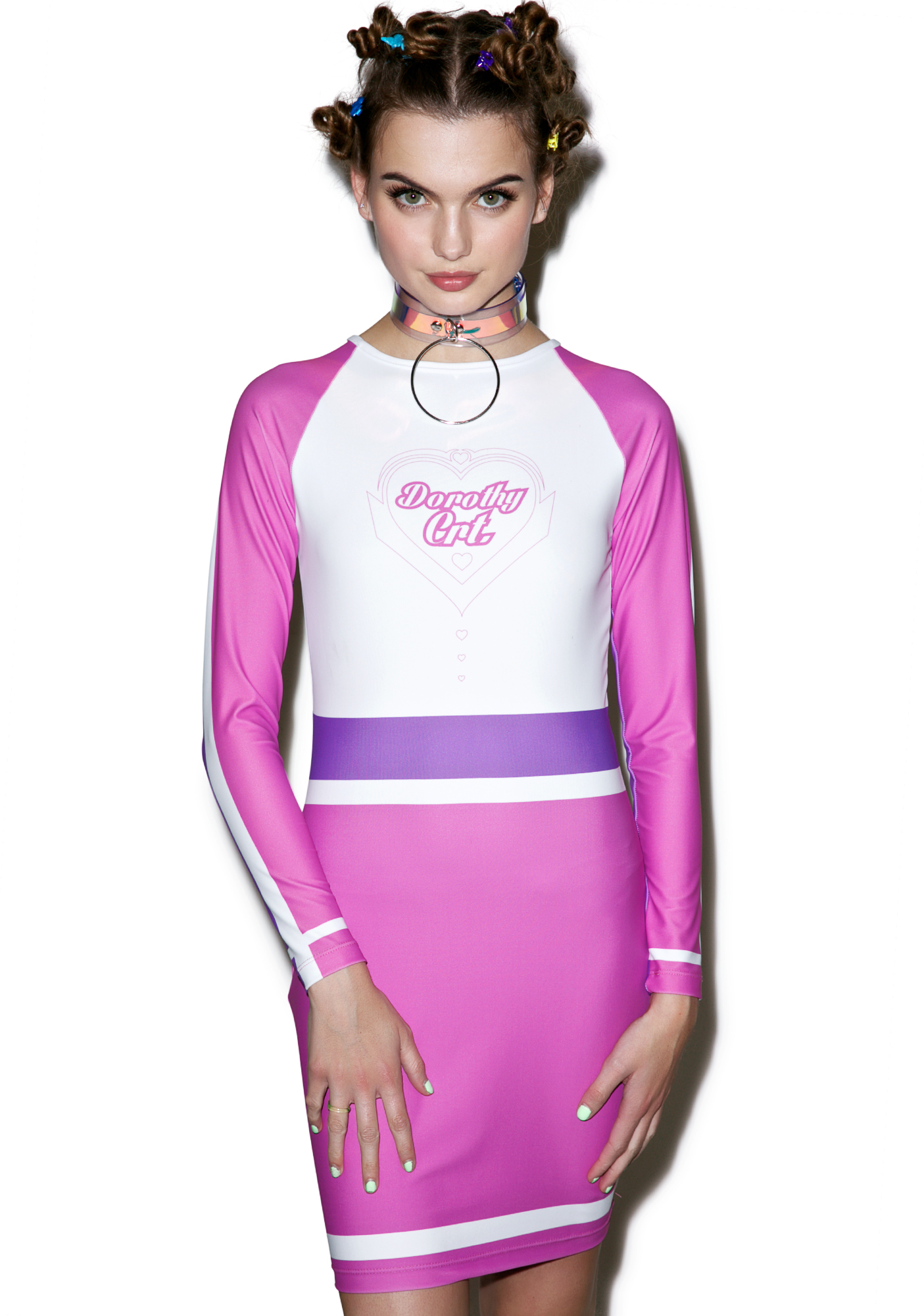 Dorothy Crt Pink Color Block Dress