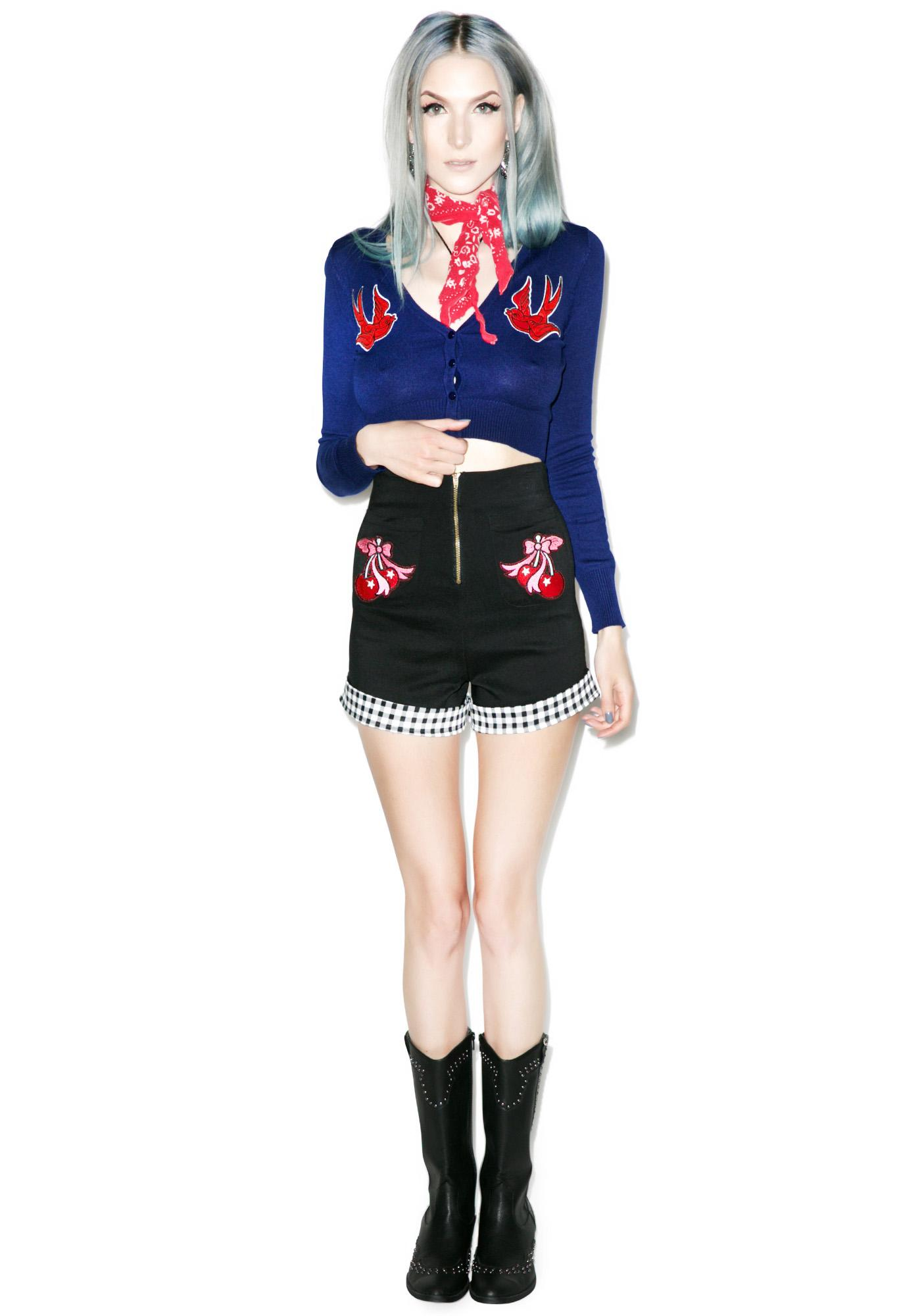 Nautical Cropped Cardigan