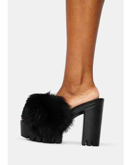 Wine & Dine Fuzzy Heels