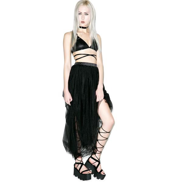 Dim Hope Tulle Maxi Skirt