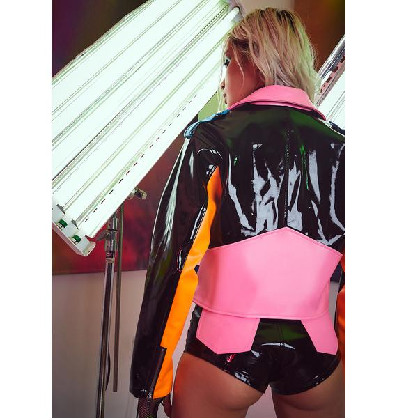 Current Mood Chop And Change Colorblock Moto Jacket