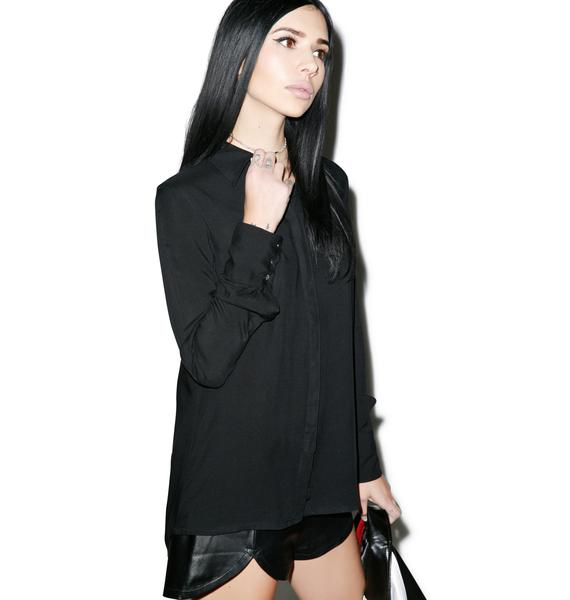 Black Scale Margaret Blouse